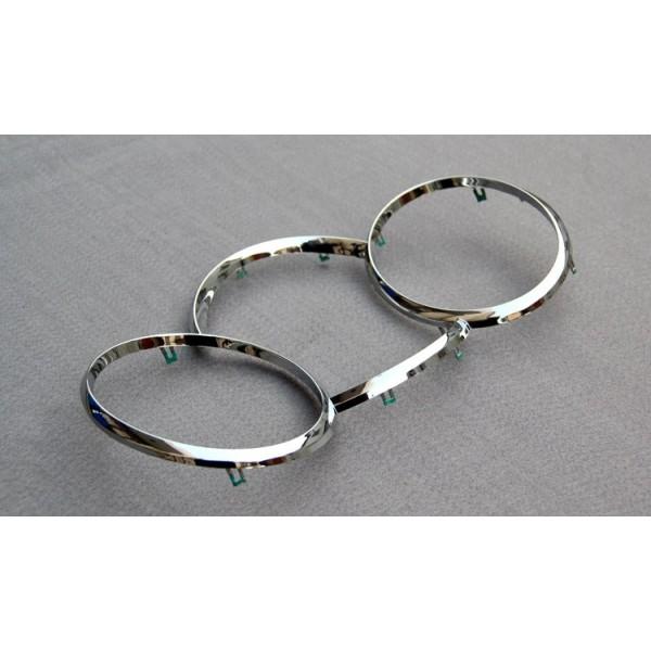 Хромированные кольца в приборную панель Chevrolet Cruze