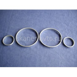 Хромированные кольца в приборную панель BMW E39, E53