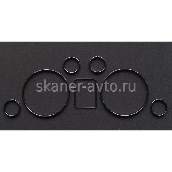 Хромированные кольца в приборную панель Audi