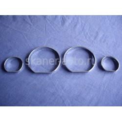 Хромированные кольца в приборную панель  BMW E46